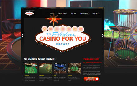 Homepage von Casino for you